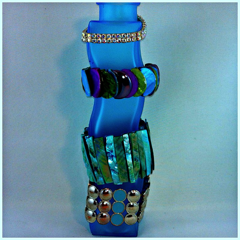 Reused Vase Bracelet Holder How to Organize Accessories on Starr's Creative Craft & DIY Blog on WordPress