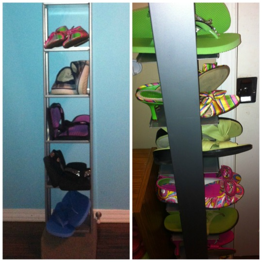 CD Tower Turned High-rise Shoe Rack