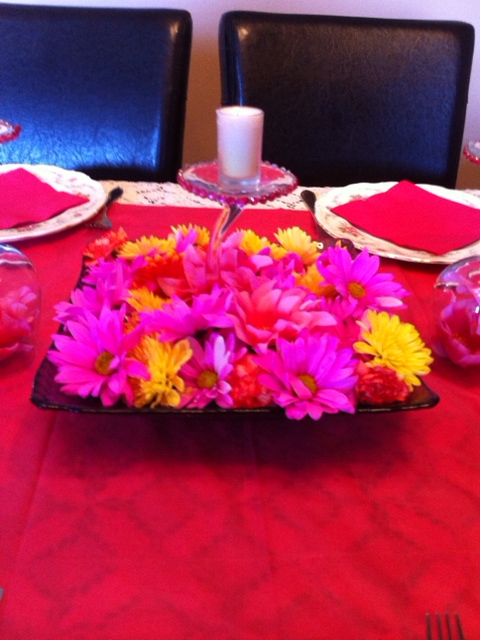 fresh flower centerpiece starrcreative@wordpress.com