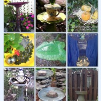 37 Insanely Cool DIY Bird Baths!