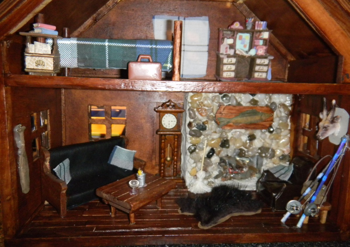 Old Doll House Turned Mini Man Cave!