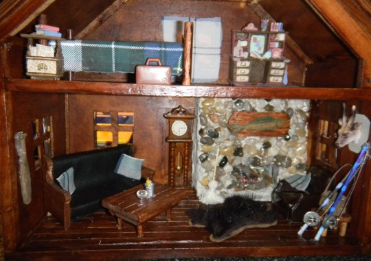 Mini Man Cave Painting : Old doll house turned mini man cave starr s diy