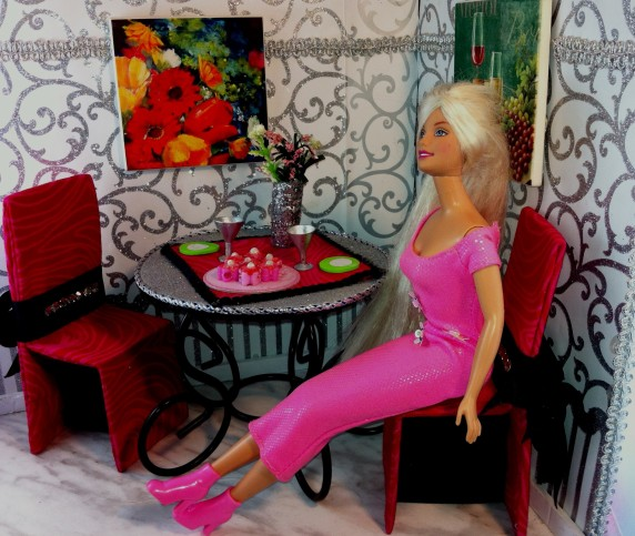 Barbie's DIY Valentines Day Adventure: An Up-cycled Love Story #Brunch #trash_to_treasure #Thrift_store_find #DIY #Barbie_doll #Love_story #Upcycled #Repurposed #Doll_Accessories #Doll_furniture Starrcreative.ca