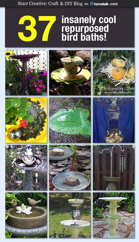 37 insanely cool diy bird baths starr s diy creations