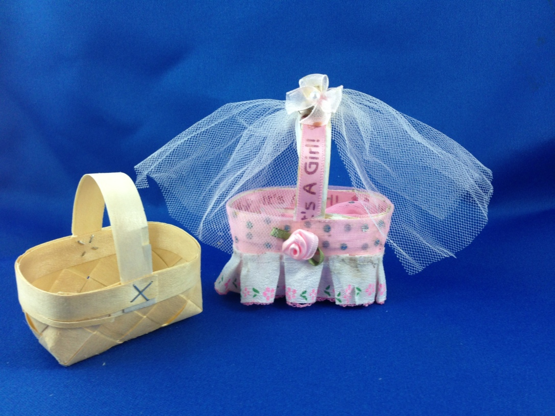 DIY Barbie Doll Bassinet also would work great to put mints into for a baby shower.DIY Barbie Doll Lunch Date #barbiedoll #bassinet #DIY #Upcycle #Repurpose #Reuse #Toys