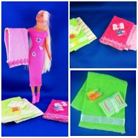DIY Barbie Bath Towel Collection Tutorial