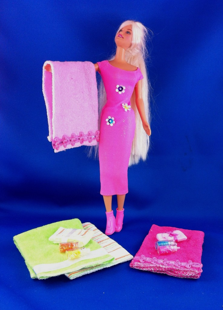 No Sew Barbie Bath Towels