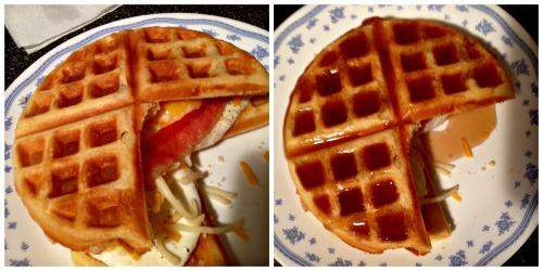 Pac-Man Waffle Sandwich Supreme