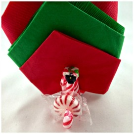Easy DIY Candy Cane Napkin and Mint Holder www.starrcreative.wordpress.com