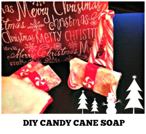 Christmas Easy DIY Soap Bars and Candy Cane Soap Holder #Christmas #soap #craft #candycane #easy #DIY #soapholder #handmade #sock stuffer #tutorial