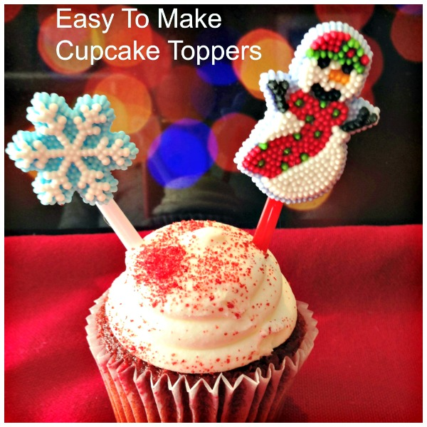 DIY Easy Cupcake Toppers you can make yourself. So many options. Great beginner project. Kids willl love this too! #cupcakes #toppers #DIY #easy #craft #Christmas #baking