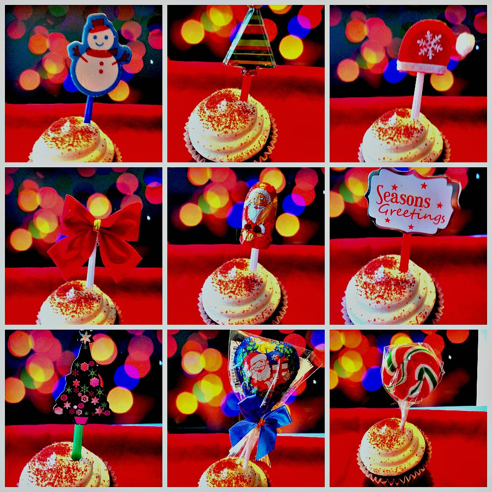 Examples of DIY Easy Christmas Cupcake Toppers #DIY #Easy #Christmas #Cupcake #Toppers #Decorating #Baking #craft