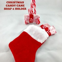 EASY DIY Christmas Candy Cane Soap & Holder Tutorial