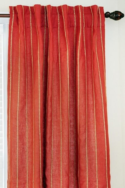 high rod curtains