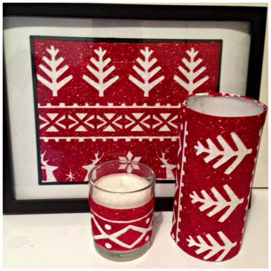 Red Gift Bag Accents