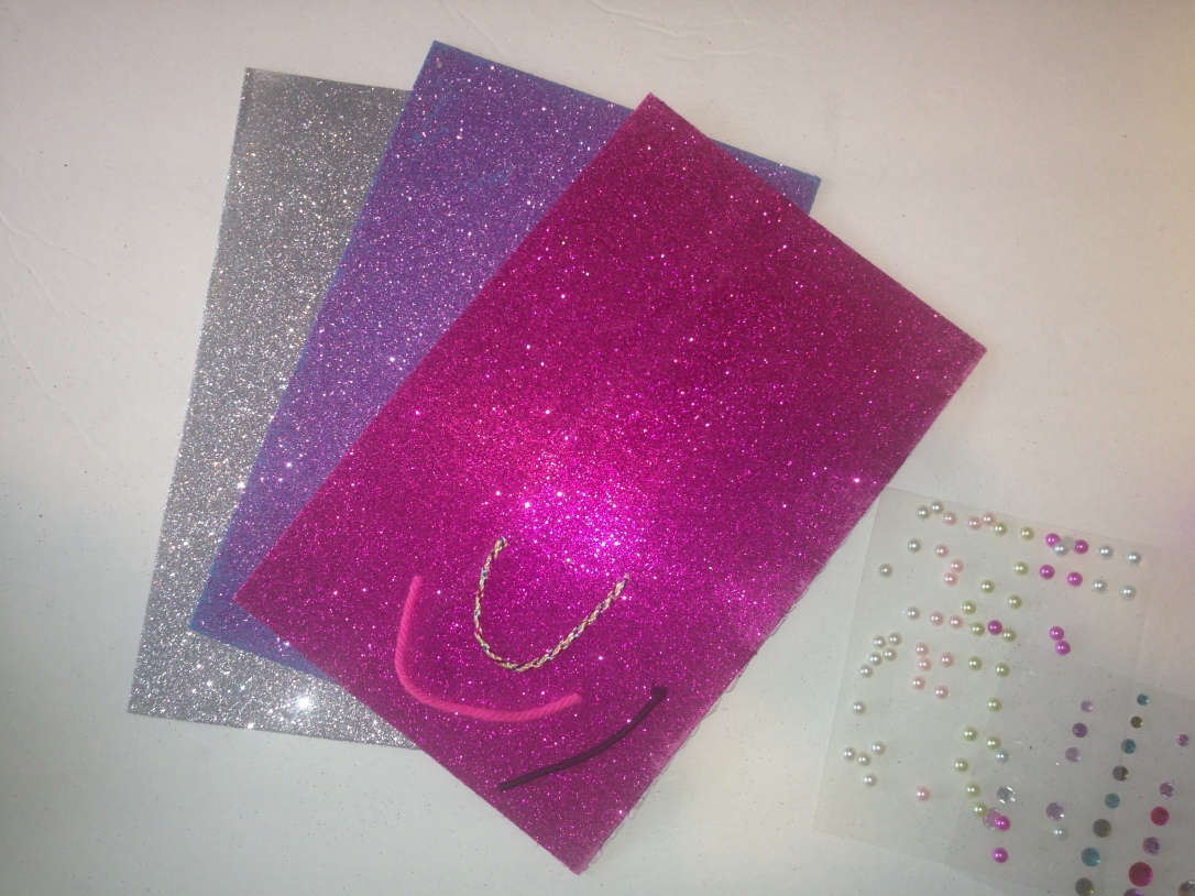 Easy DIY sparkly Barbie Doll purses made with sticky back sparkling foam from dollar store
