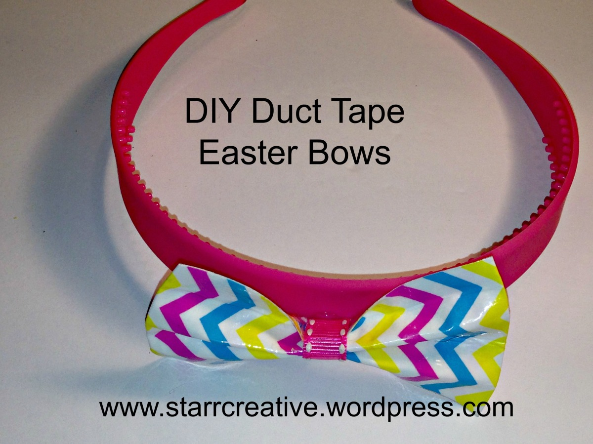DIY Duct Tape Bows For Little Chics