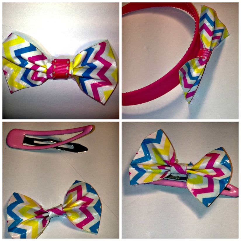 Duct Tape Hair Accessories