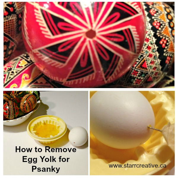 How to Remove Yolk to Make Pysanky Easter Eggs #easter #eggs #easter_eggs #egg_yolk #pysanky #ukranian_easter_egg #decorating_eggs