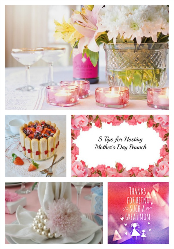 5 Tips for Hosting Mothers Day Brunch. Here are some great ways to put the Special in this Special Day! #mothersday #brunch #hosting #tips #freshflowers #foldnapkins #desserts