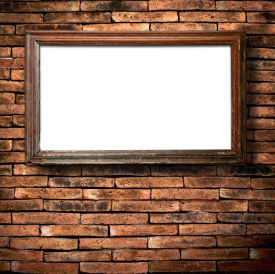 Brick Wall And Frame Stock Photo ID-10021904