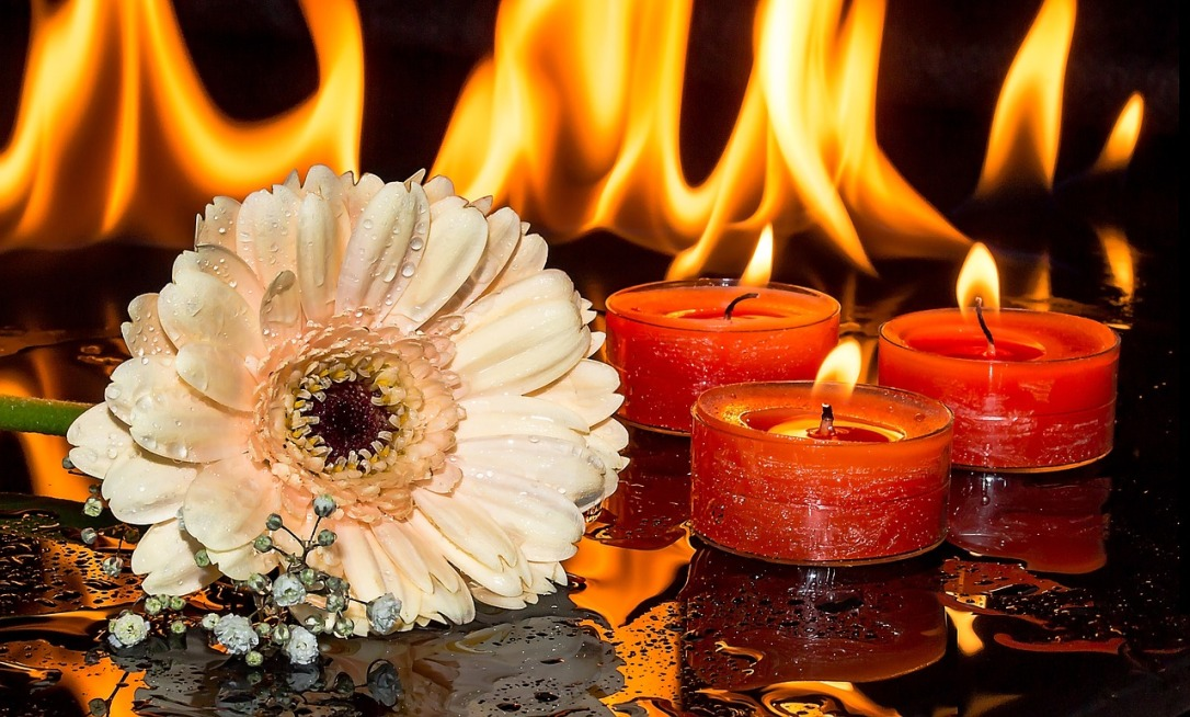 """Candle and Fireplace How To Create A """"Naturally"""" Beautiful Space"""