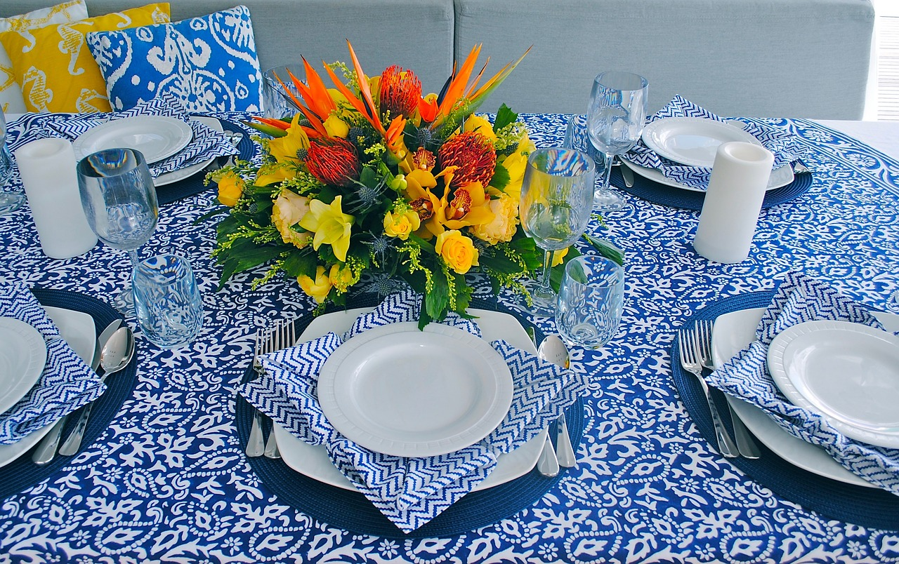 "Fabrics and Table Settings How To Create A ""Naturally"" Beautiful Space"