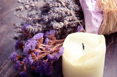 Lavender And A Candle Photo by Aleksa D. freedigitalphotos.com