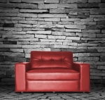 Red Sofa In The Room S Photo by Feelart