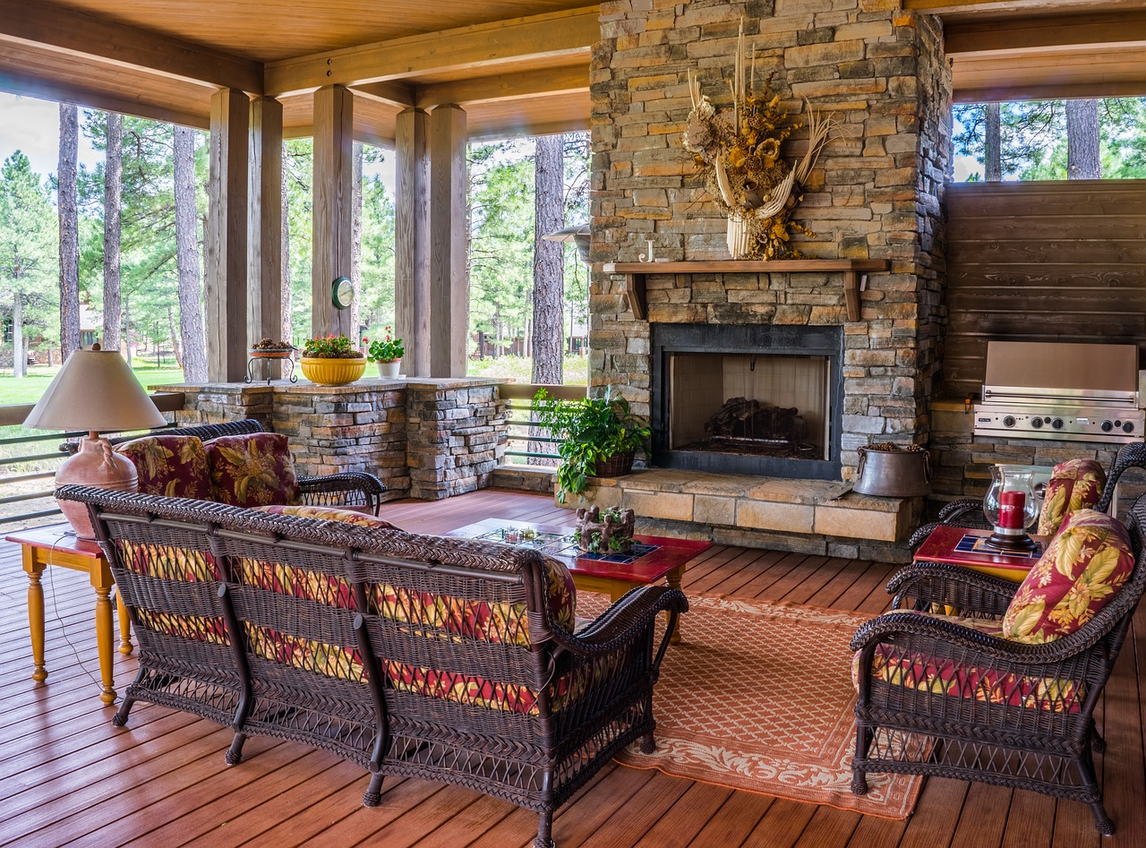 "Stone Fireplace How To Create A ""Naturally"" Beautiful Space #homedecorating #decor #interiordecorating #DIYdecorating #wood #water #brick #stone #fire #natural #neutral #decoratingtips #tipsandtricks"