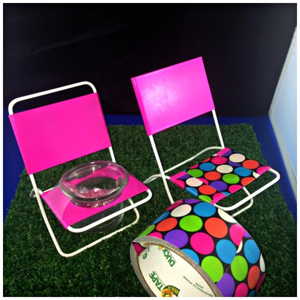 Barbie Patio - Dollar Tree Candle Holder Turned Barbie Lawn Chair DIY Dollar Store Barbie Patio Furniture from Candle Holders and Individual Cupcake Stand #Barbiedoll #Dollarstore #repurpose #furniture #patio #lawnchairs #toys  #Starrcreative.ca