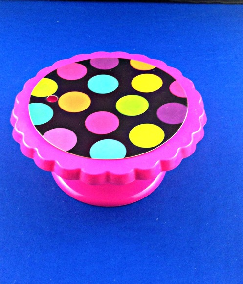 Barbie Patio From Dollar Store Candle and Cupcake Holders