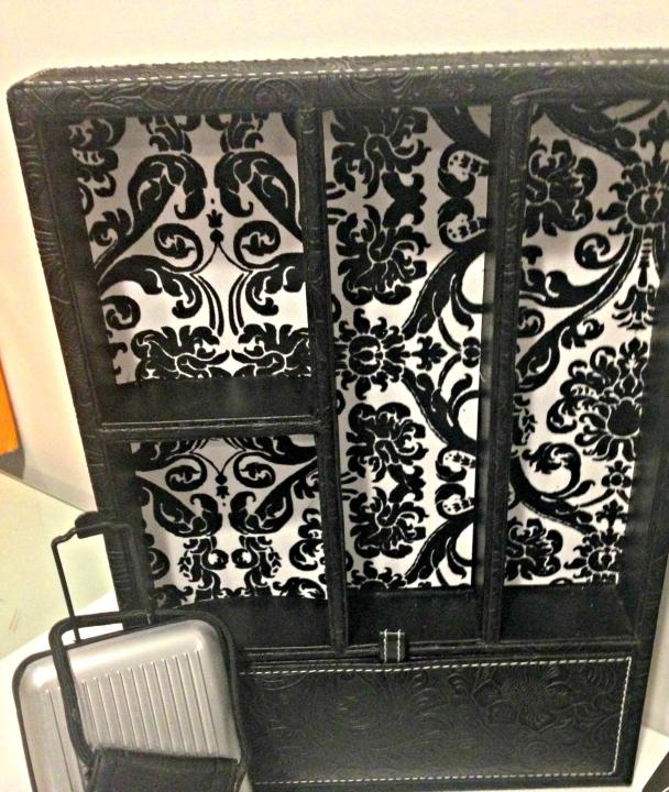 DIY Barbie Cabinet and Suitcase DIY Barbie Doll Hotel Trash to Treasure #barbiedoll #furniture #upcycle #hotel #fireplace #bed #TV #diorama #repurpose #DIY #Thriftstore #trashtotreasure #Starrcreative.ca