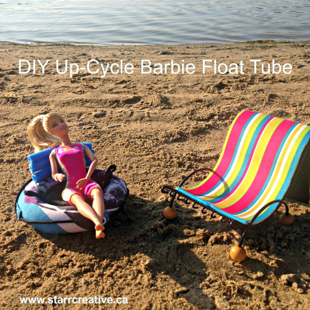 DIY Barbie Doll Tube from Old Swim Trunks