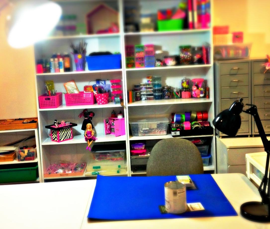 Room Lighting How To Organize A Craft Room #craft_storage #craftroom #craftroom_design #craftroom_organization #multi-purpose