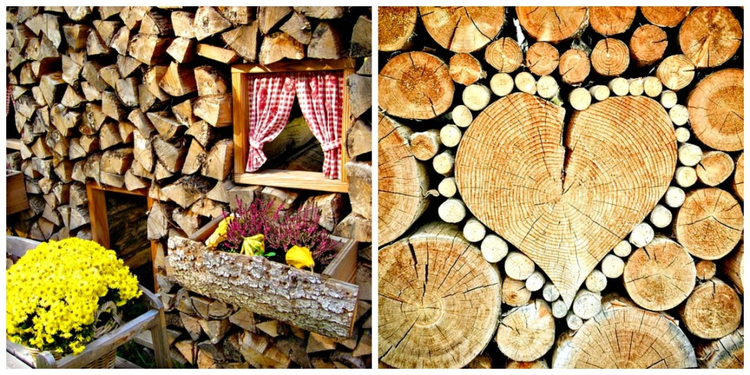 Decorating a woodpile fall inspirations