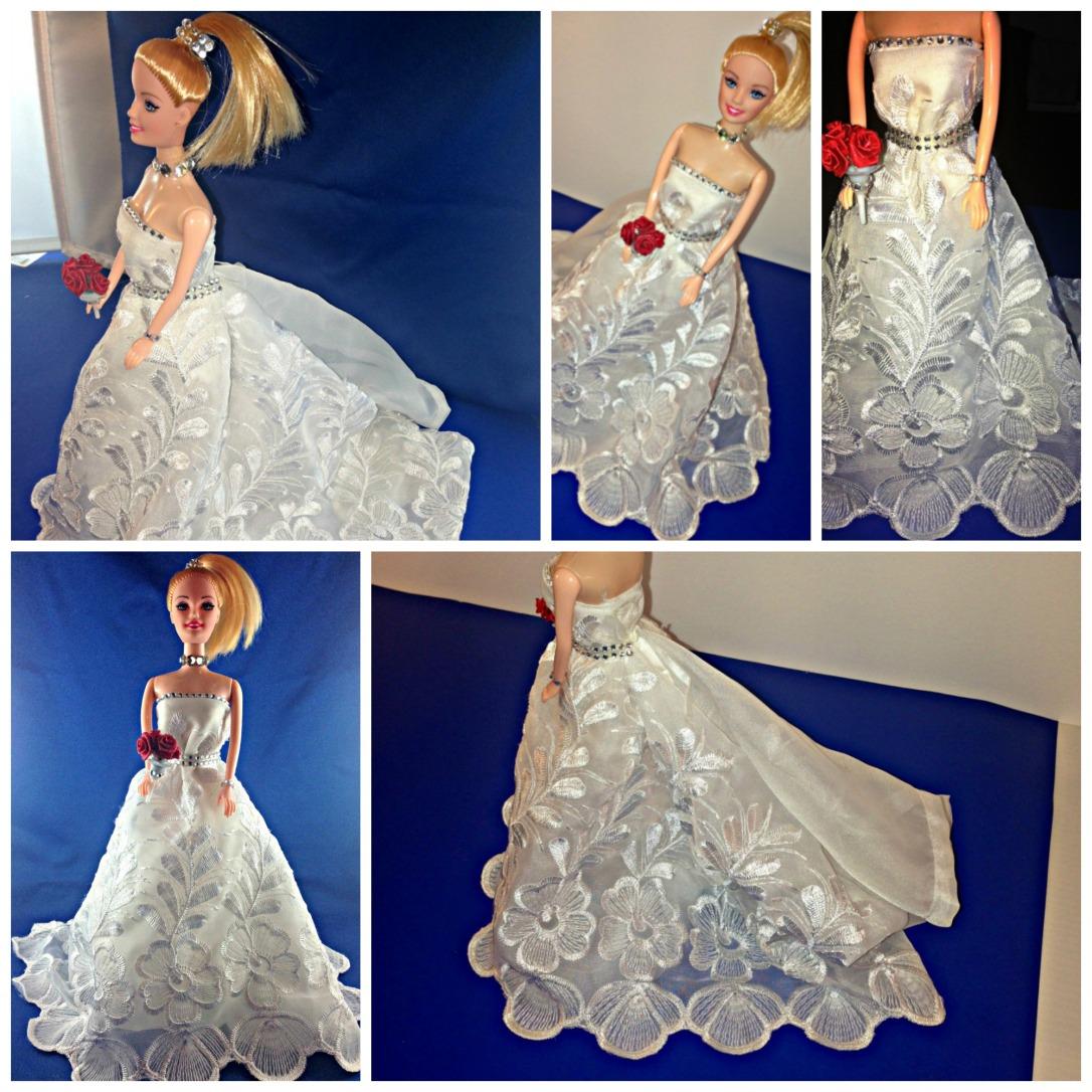No Sew Barbie Doll Wedding Gown