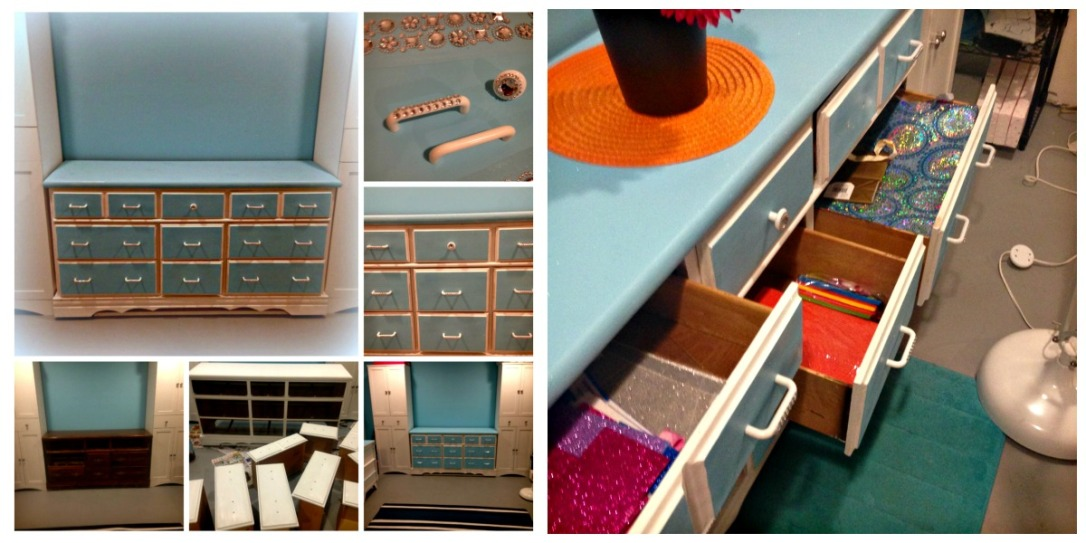Craft Room Dresser Make Over for Supply Storage How To Organize A Craft Room #craft_storage #craftroom #craftroom_design #craftroom_organization #multi-purpose