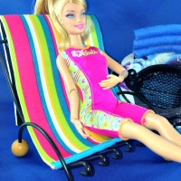 Trash to Treasure Barbie Doll Beach Chair
