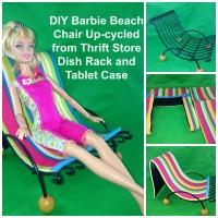 Trash to Treasure Barbie Doll Beach Chair