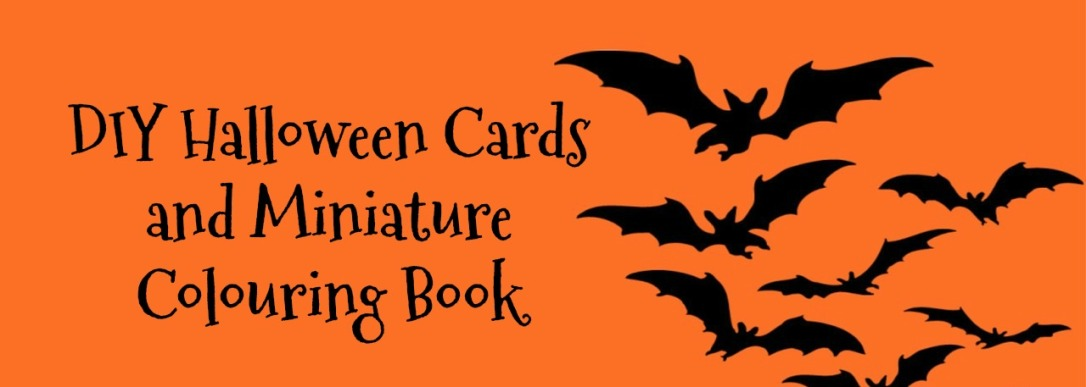 DIY Halloween Cards and Miniature Colouring Book