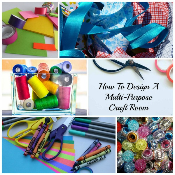 How to Organize A Craft Room for Multi Use #craftroom #organize #multiuse #design #craftsupplies #craft_storage