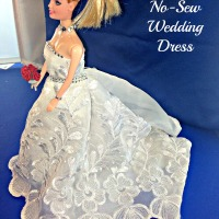 No Sew Barbie Doll Wedding Dress