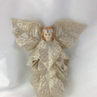 DIY Christmas Poinsettia Angel Fairy