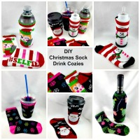 DIY Christmas Sock Drink Cozies