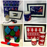 Christmas Gift Bag Decor Accents