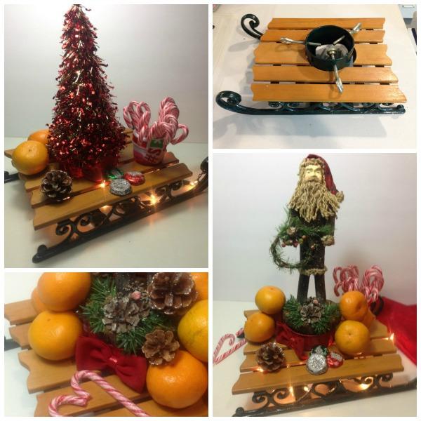 Vintage Christmas Tree Stand.Diy Vintage Christmas Tree Stand Sleigh Christmas Tree