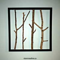 Framed Branches From the Lake