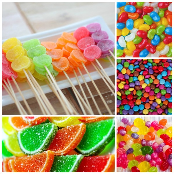 Candy Entertaining inspirations with multi-colored theme. #entertaining #multi-colored #party #decorations #candy