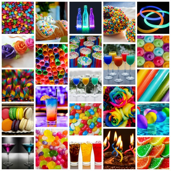 Entertaining inspirations with multi-colored theme. #entertaining #multi-colored #party #decorations
